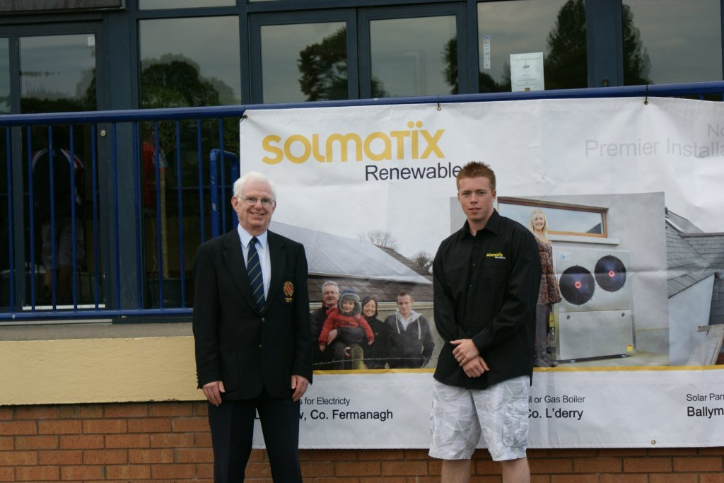Jonathan Bell from Solmatix is pictured here with NCU President Murray Power
